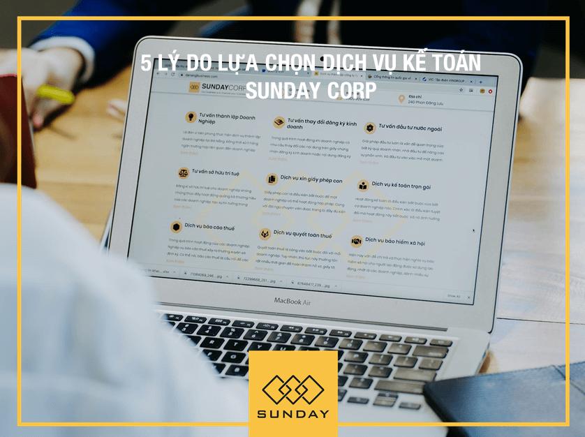 Dịch vụ kế toán trọn gói của Sunday Corp