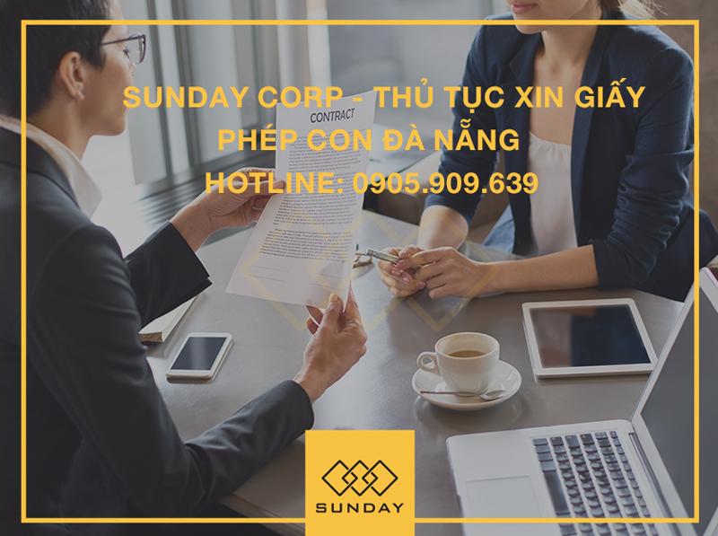 Thủ tục xin giấy phép con Đà Nẵng - Sunday Corp