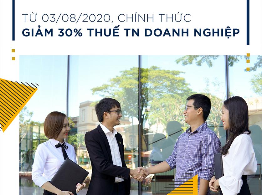 Giảm thuế 30% TNDN - Sunday Corp