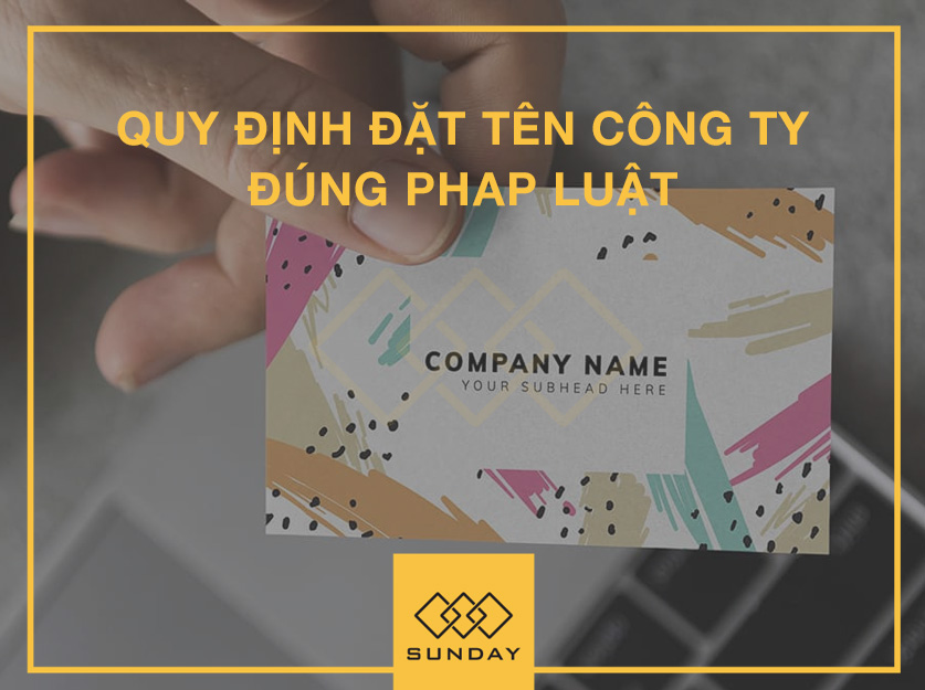 quy định đặt tên công ty